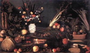 Caravaggio - Still-Life With Flowers And Fruit