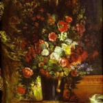 Delacroix A Vase of Flowers on a Console