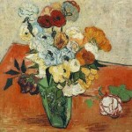 Gogh Van,19,FRA, Still Life Japanese Vase with Roses and Anemones