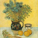 Gogh Van,19,FRA, Still Life Majolica Jug with Wildflowers