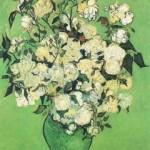 Gogh Van,19,FRA, Still Life Pink Roses in a Vase