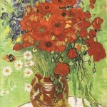 Gogh Van,19,FRA, Still Life Red Poppies and Daisies