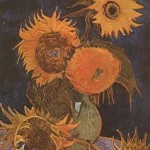 Gogh Van,19,FRA, Still Life Vase with Five Sunflowers