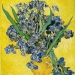 Gogh Van,19,FRA, Still Life Vase with Irises Against a Yellow Background