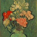 Gogh Van,19,FRA, Still Life Vase with Rose-Mallows