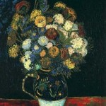 Gogh Van,19,FRA, Still Life Vase with Zinnias