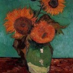 Gogh Van,19,FRA, Three Sunflowers in a Vase