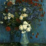 Gogh Van,19,FRA, Vase with Cornflowers and Poppies