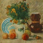 Gogh Van,19,FRA, Vase with Flowers, Coffeepot and Fruit