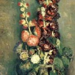 Gogh Van,19,FRA, Vase with Hollyhocks