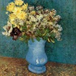 Gogh Van,19,FRA, Vase with Lilacs, Daisies and Anemones