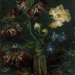 Gogh Van,19,FRA, Vase with Myosotis and Peonies