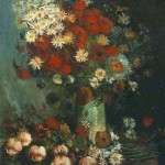 Gogh Van,19,FRA, Vase with Poppies, Cornflowers, Peonies and Chrysanthemums
