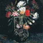 Gogh Van,19,FRA, Vase with White and Red Carnations