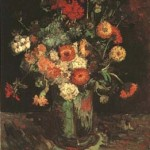 Gogh Van,19,FRA, Vase with Zinnias and Geraniums