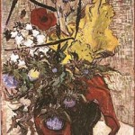 Gogh Van,19,FRA, Wild Flowers and Thistles in a Vase