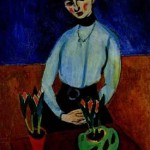 Henri Matisse - Girl with Tulips (Portrait of Jeanne Vaderin