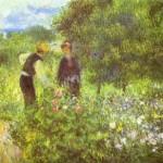Pierre-Auguste Renoir - Conversation with the Gardener