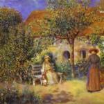 Pierre-Auguste Renoir - Garden Scene in Britanny