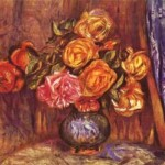 Pierre-Auguste Renoir - Roses Before the Blue Curtain