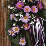 Bouquet fiori di campo e bouvardia